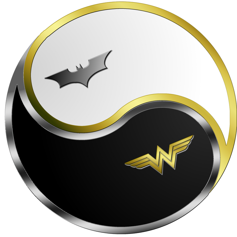 batman wonder woman yin yang by ares 81 on deviantart Star Vector Art Yin Yang Clip Art