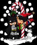 Batman Wonder Woman Xmas Chibi