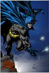 Batman on Roof by D Finch