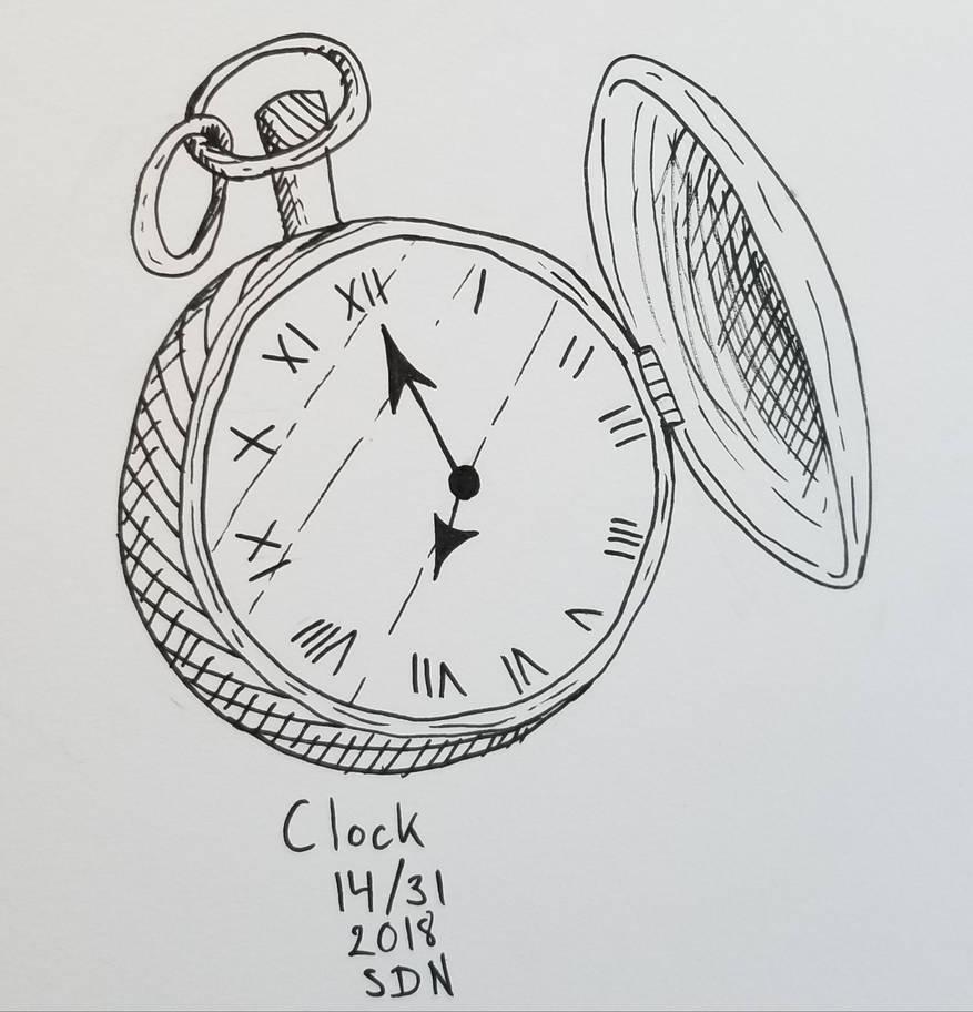 inktober clock by Sussi