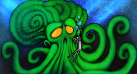 Octopus Diver by InsainArt