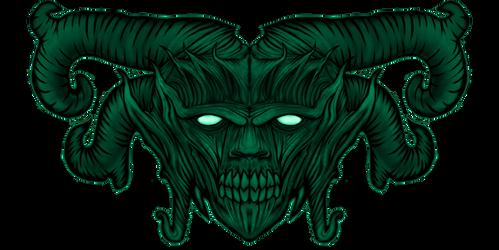 Blue Green Face1 by InsainArt