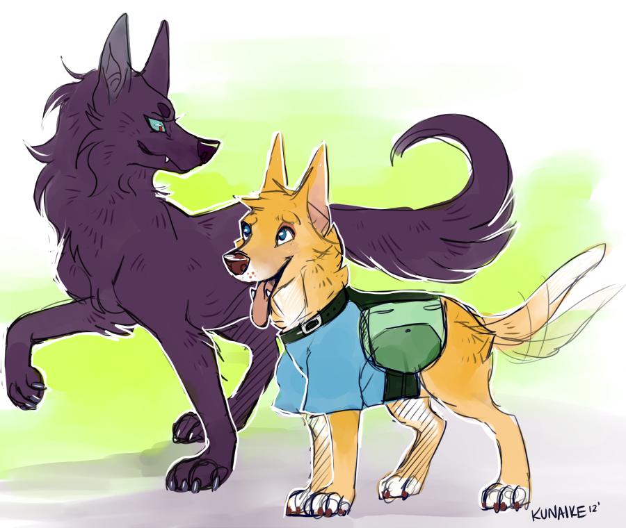 Finn the dog by Kunaike