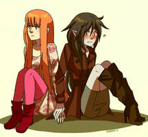 Bubbline. holding hands by Kunaike