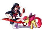 commission. Ryuko and Applebloom