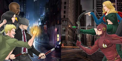 Netflix Defenders vs CW Arrowverse