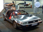 Marty McFlys with Doc in Delorean 1