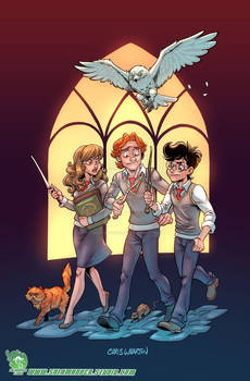 Harry, Ron, Hermione and their Pets