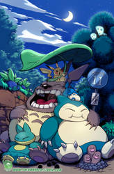 Totoro and Snorlax Sleepy Time