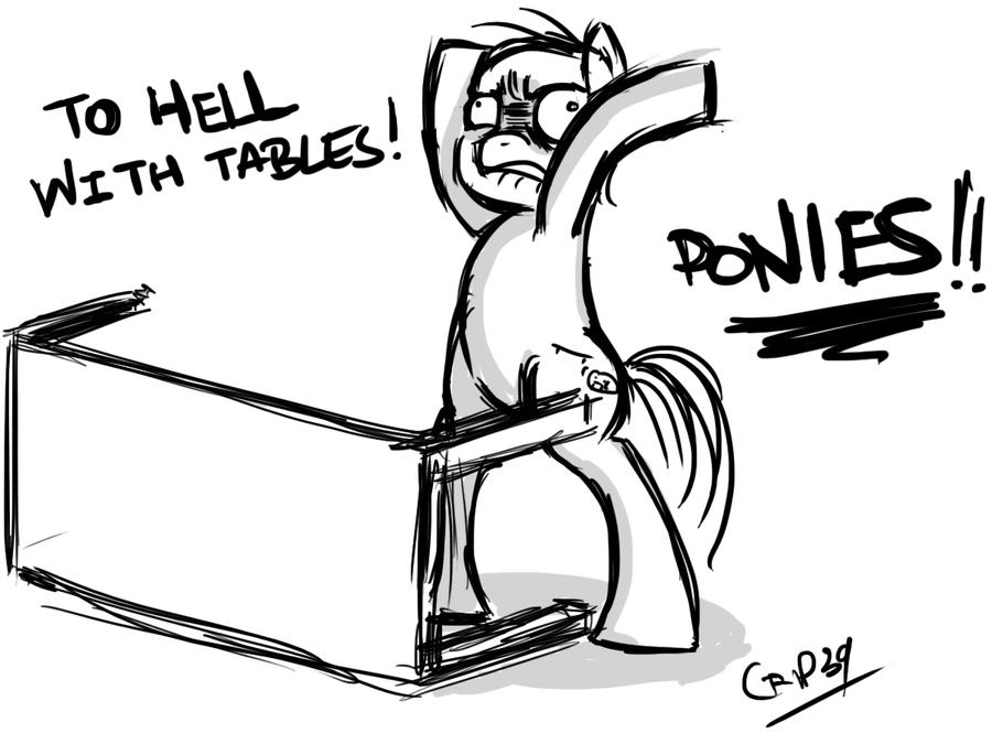 table flip ponies!!!coin-trip39 on deviantart