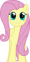 Fluttershy .:facing at YOU!:. .:vector:.