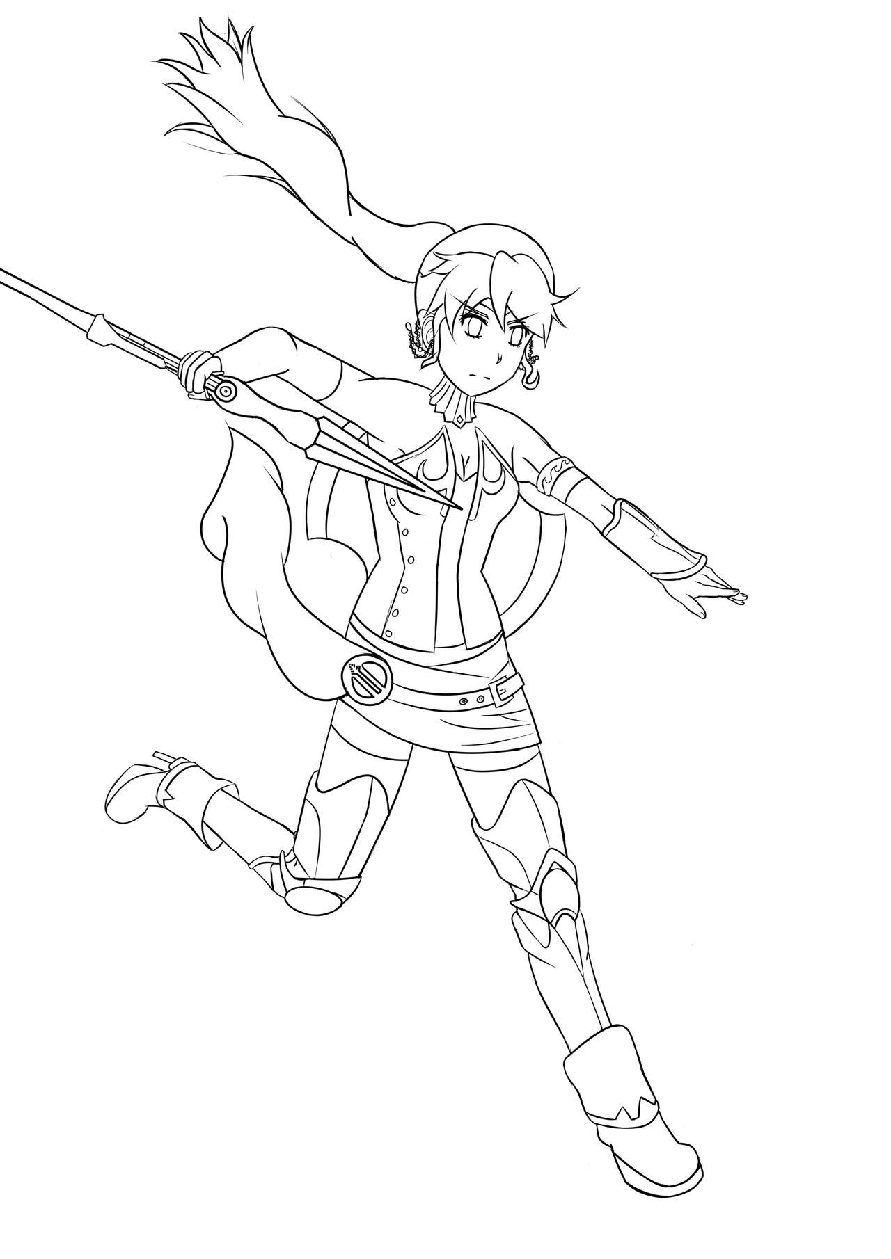 Line Art Practice : Pyrrha practice line art by yoyo on deviantart