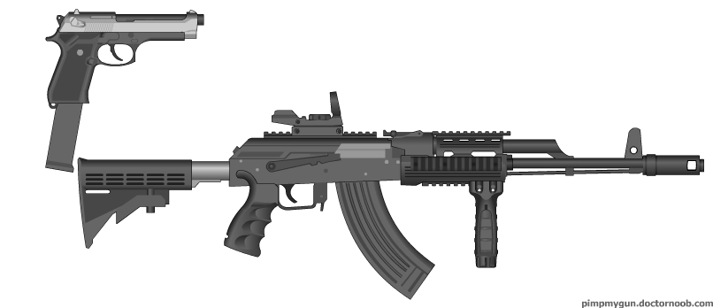 ak 47 customs with a 9m full auto berreta by julnix115 on deviantart. Black Bedroom Furniture Sets. Home Design Ideas