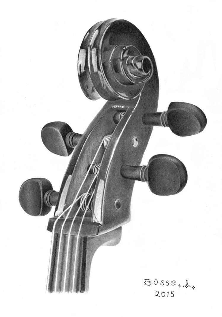 Violin Scroll by Torsk1