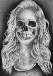 Long-haired skull by Torsk1