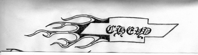 Chevy tattoo sketch by 88tizzle88 on deviantart for Chevy bowtie tattoos
