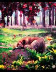 Good Night Foxy by Isalline