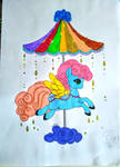Coloring of the Cloud Carrossel Pony by tefas90