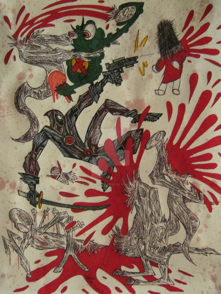DEADPOOL vs F.E.A.R. by EtriganSwamp