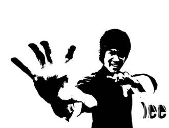 Bruce Lee Stencil 2 by Remeber-To-Blink