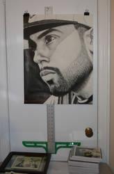 Finished CBW Portrait hanging