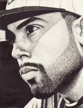 Cody B Ware ink portrait
