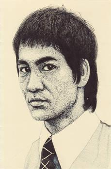 Bruce Lee Pen Portrait