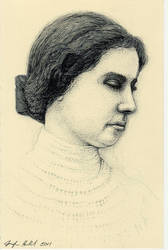 Hellen Keller Portrait in pen