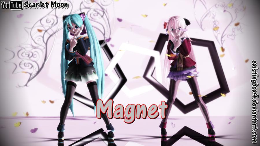 mmd magnet miku hatsune and luka megurine by