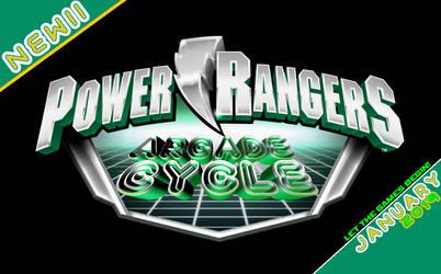 Power Rangers ARCADE CYCLE logo (Promo)