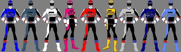 Power Rangers SPACE POLICE-Dynamic Savior Edition