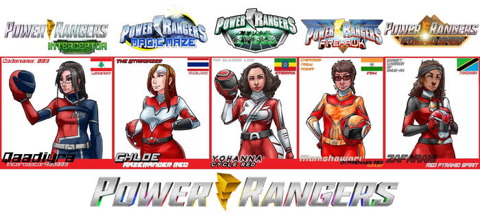 The 5 Best Female Red Rangers by ShadowOverlordXDZ