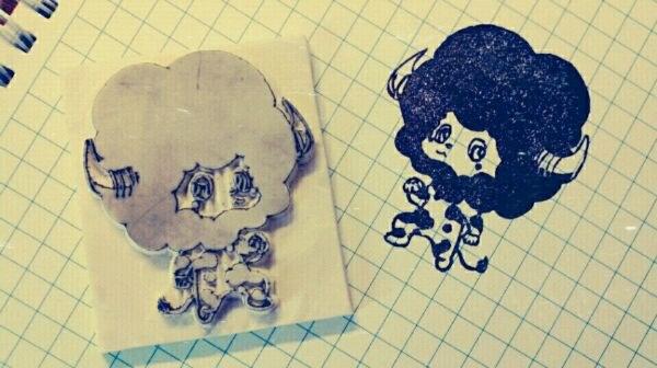 Kateikyoushi Hitman REBORN Lambo - Rubber stamp by dunkleLamm