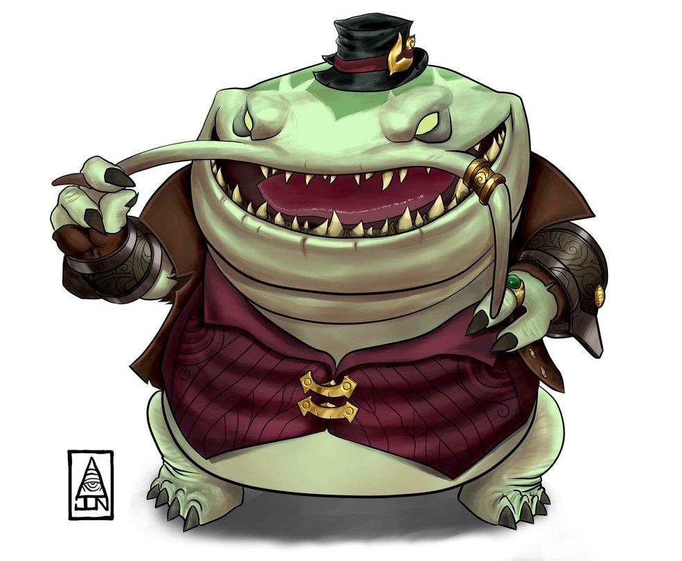 Characters: Demons Tahm_kench_by_jonaswendew_d9sbxt0_by_rachelrenston-dbjzpbb