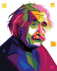 Albert Einstein In Pop Art Portrait Illustration by Emer17