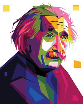 Albert Einstein In Pop Art Portrait Illustration