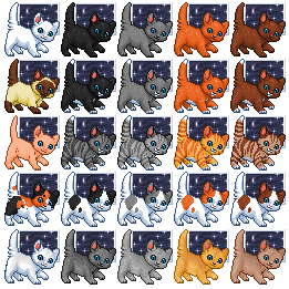 Free kitten icons with background by Tirrih