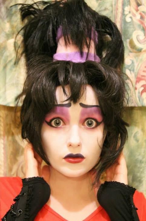 Lydia: Beetlejuice Makeup Test