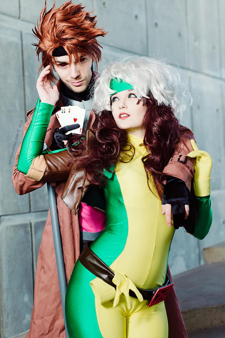 Rogue and Gambit by Hopie-chan