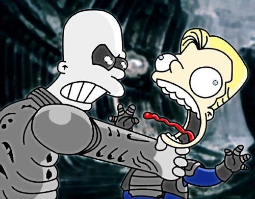 Prometheus Simpsons Style by Miguelhan