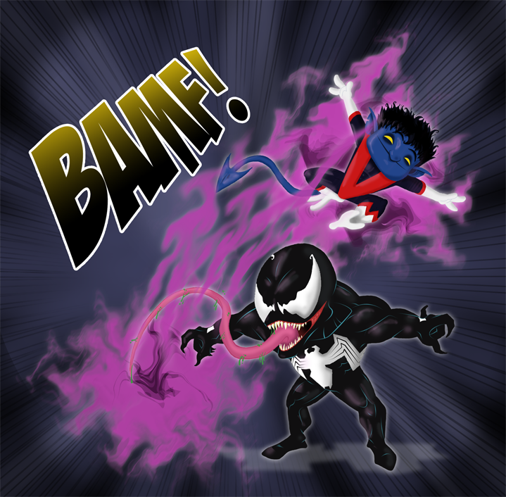 Nightcrawler vs Venom by Miguelhan on deviantART