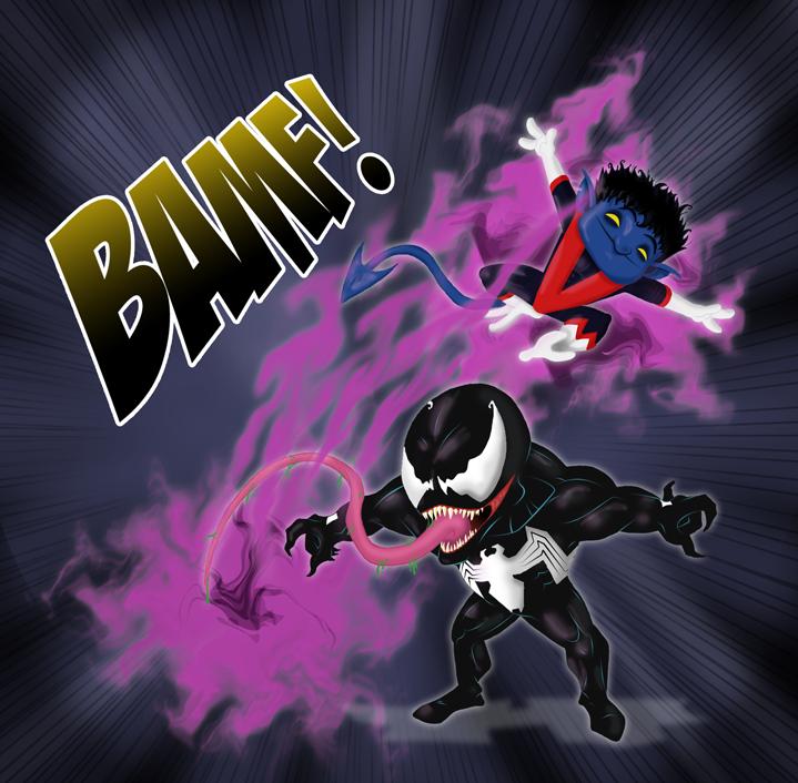 Nightcrawler vs Venom by Miguelhan on deviantART