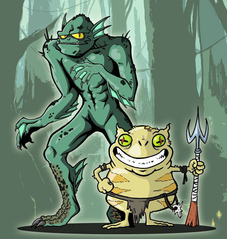 Swamp Creatures by Miguelhan