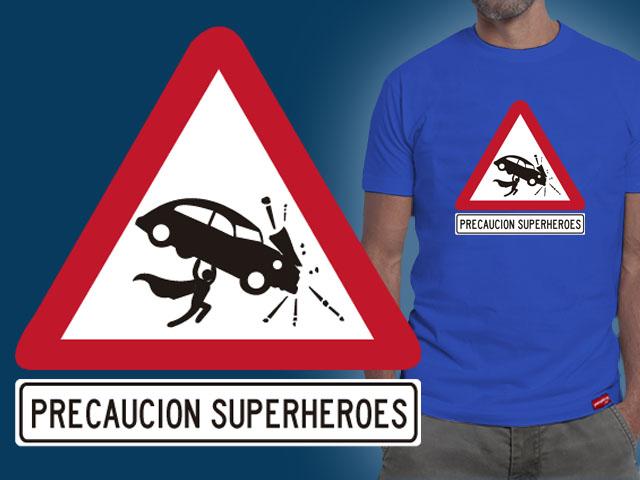 Precaucion Superheroes by Miguelhan