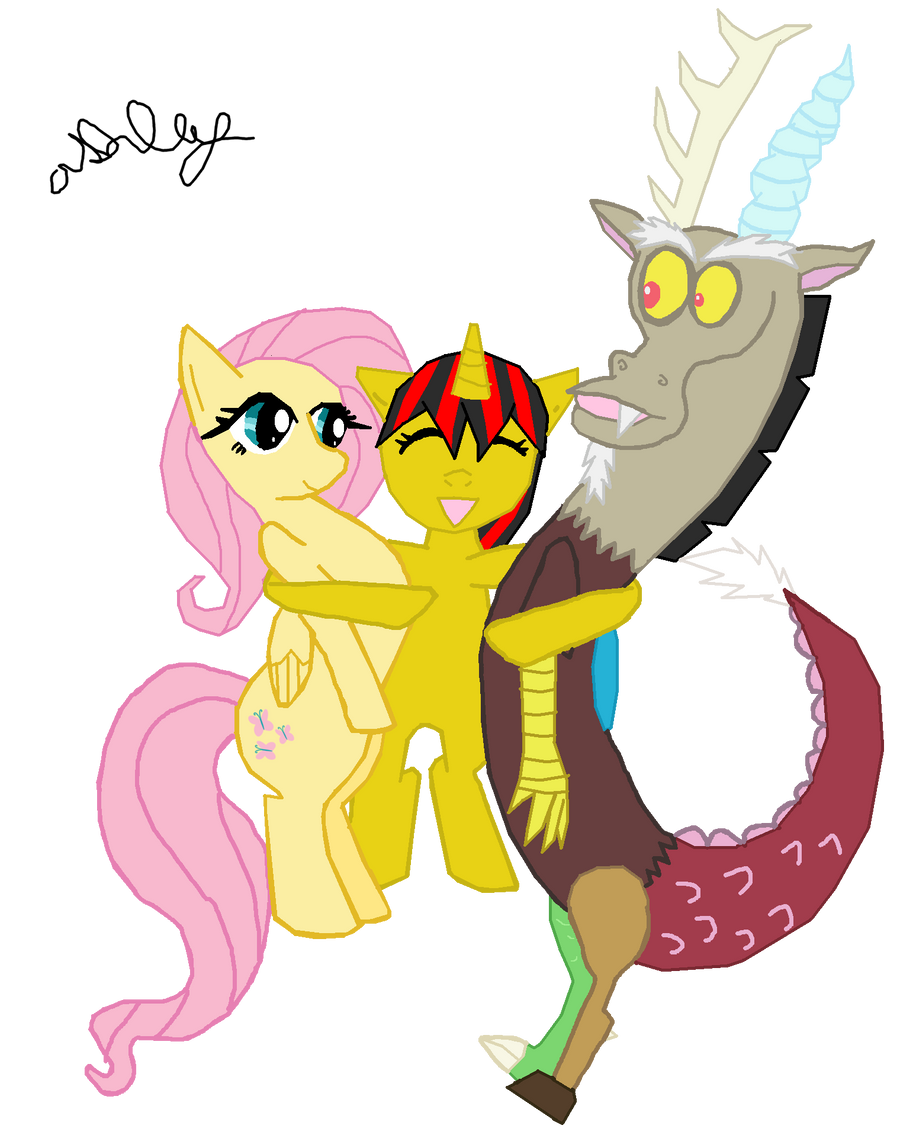 Baby Discord And Fluttershy Fluttershy Discord Ash