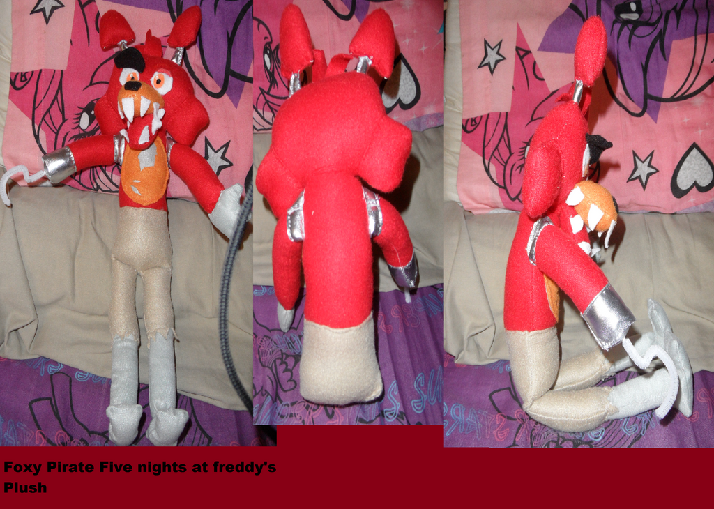 Foxy pirate cove plush FNAF by AshleyFluttershy