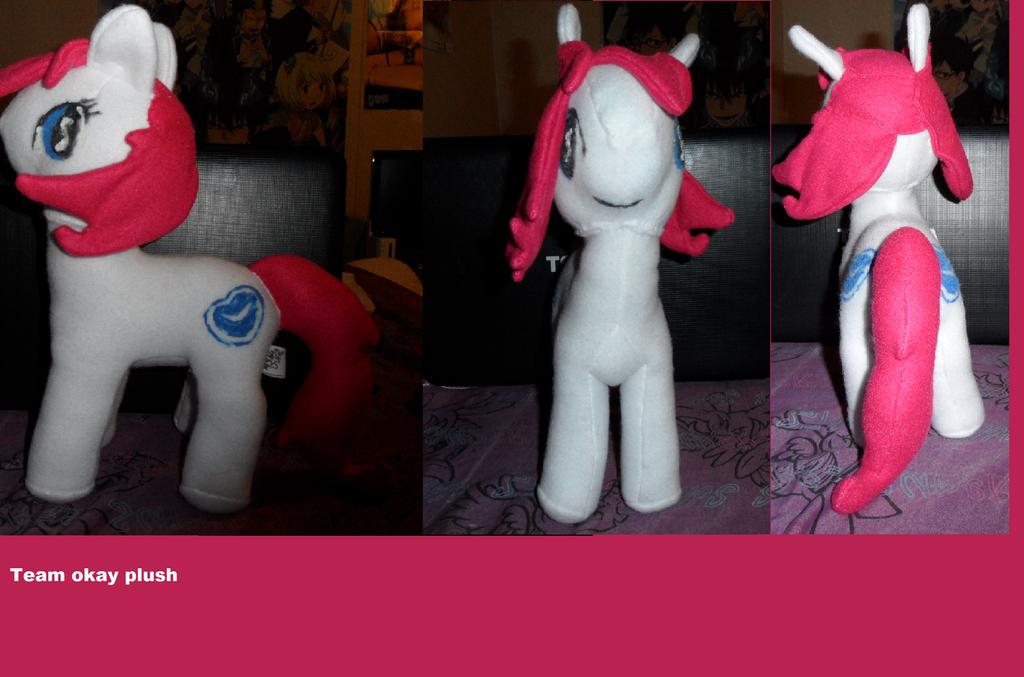 Team Okay Pony plush custom by AshleyFluttershy