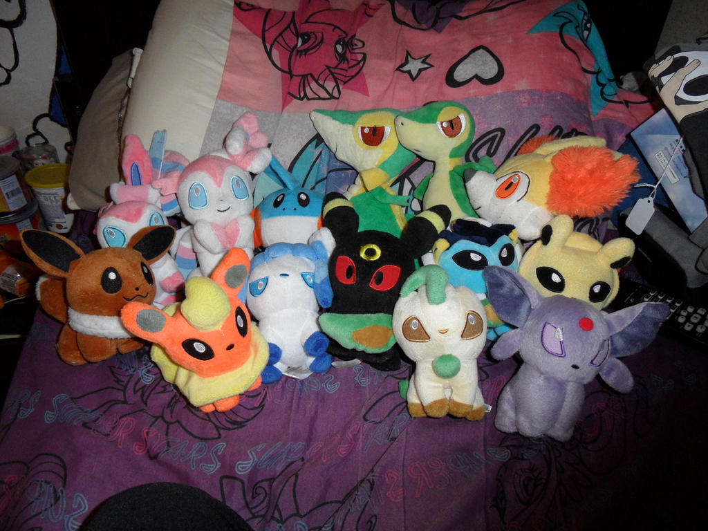 my Pokemon buddies plushies by AshleyFluttershy