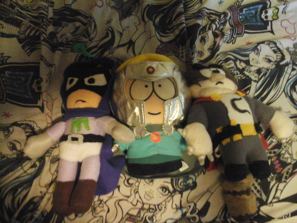 Coon Mysterion and Professor chaos plushies by AshleyFluttershy