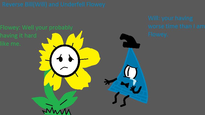 Underfell Flowey Reverse Falls Bill by AshleyFluttershy